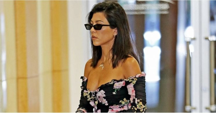 Kourtney Kardashian's Dress Is as Sweet as a Bouquet and as Short as, Um, Lingerie
