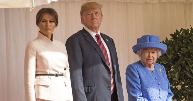 Three times the Queen had a secret, sneaky dig at Trump with her jewellery