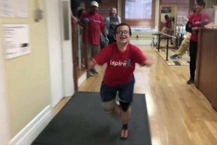 Prosthetics help 9-year-old amputee run for the first time