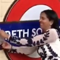 Gareth Southgate's name ripped off tube station wall sparking outrage from fans