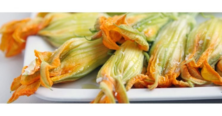 Killer App: Burrata-Stuffed Squash Blossoms With Olive Tapenade
