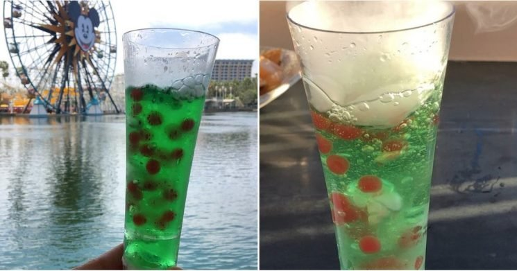 """This New Smoking Green Drink From Disney Is a Dream to Look at — but OMG, Those """"Cherry Pearls"""""""