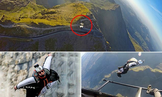 Violin maker's 8,000ft leap to soar across Snowdon to break record