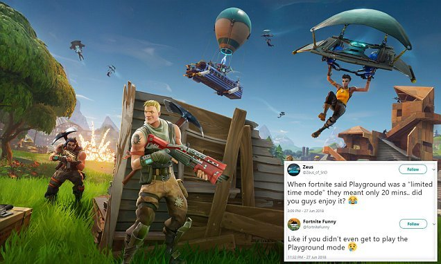 Fortnite kills Playground mode less than TWO HOURS after launch