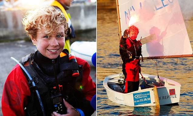 Boy, 12, breaks record for crossing the English Channel in a dinghy