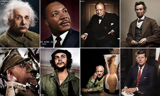 Icons of history brought to life in colour