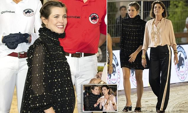 Pregnant Princess Charlotte of Monaco shows baby bump
