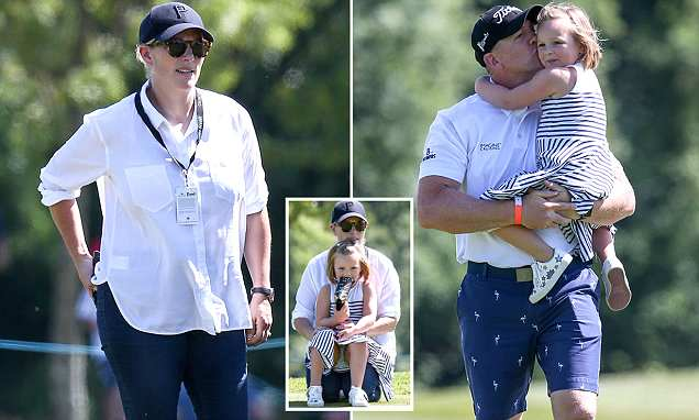 Zara Tindall is seen for the first time since welcoming baby Lena