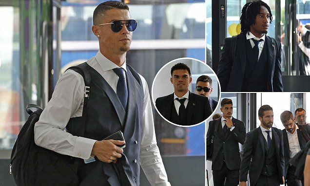 Cristiano Ronaldo cuts forlorn image as he heads home from Russiap