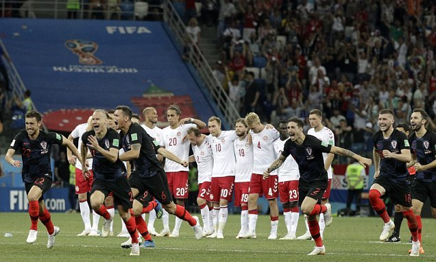 Croatia 1-1 Denmark (Croatia win 3-2 on penalties): Rakitic seals win