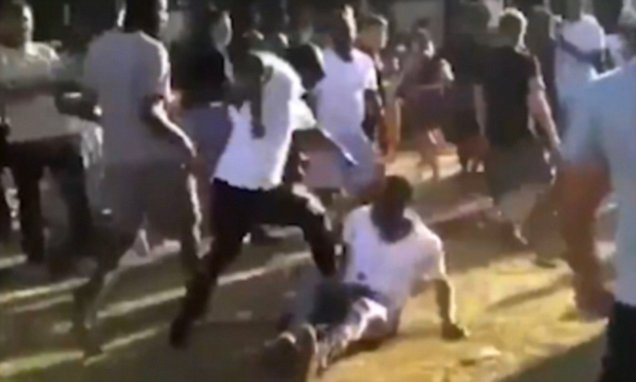 Moment mass brawl breaks out at London's Garage Nation festival