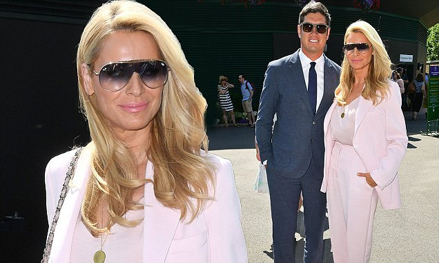 Tess Daly is effortlessly chic in pastel pink suit at Wimbledon