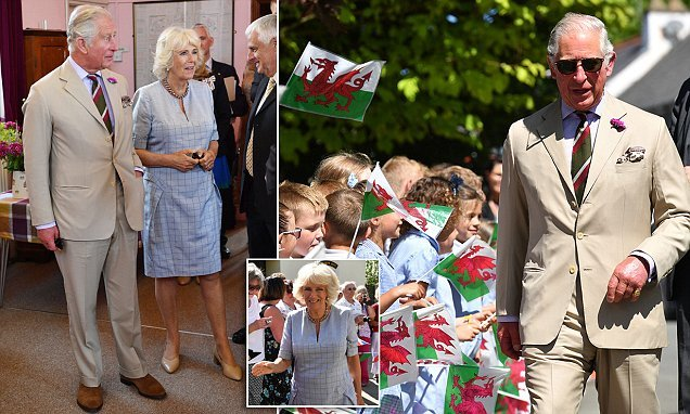 Charles and Camilla soak up the sunshine in Pembrokeshire