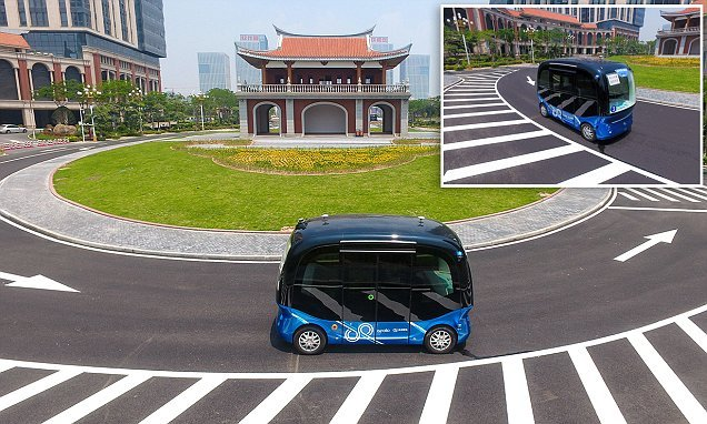 China's internet giant Baidu rolls out 8 seater self-driving buses