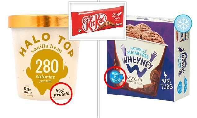 Low calorie ice creams only contain as much protein as a chocolate bar