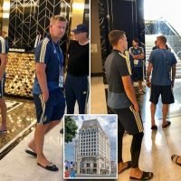 Sweden players woken by fire alarm at their five-star hotel