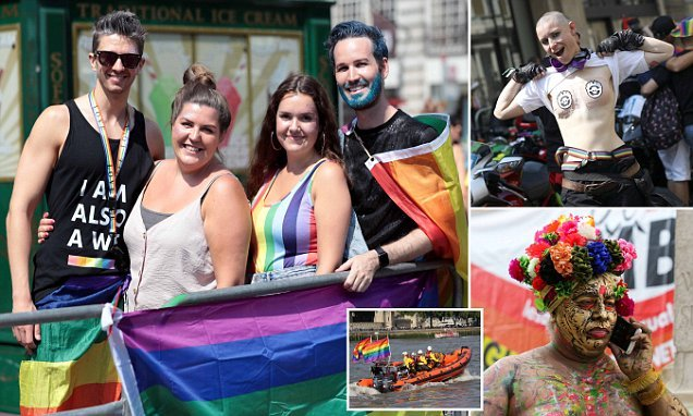 London PRIDE! Capital bursts with rainbow colours