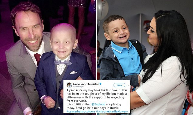 Bradley Lowery's mother shows support for England on his anniversary