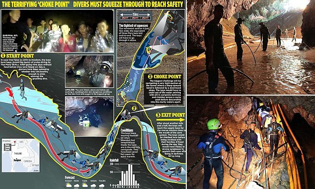 18 divers enter Thai cave as deadline looms to save trapped team