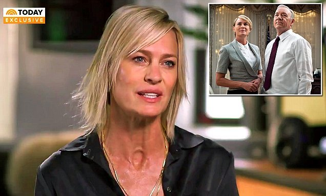 Robin Wright breaks silence on Kevin Spacey's sexual assault claims