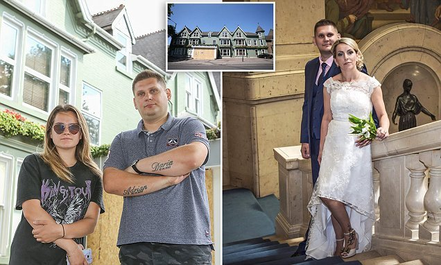 Wedding guests have to sleep in groom's bath after hotel shuts down