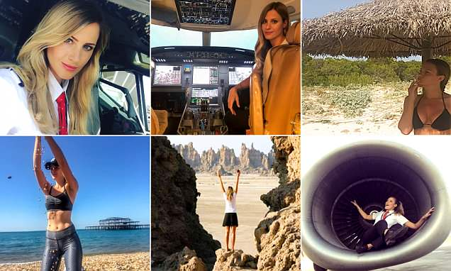 Meet the stunning blonde Swedish pilot who has set Instagram alight