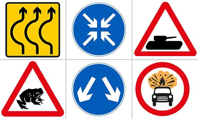 Think you know British road signs? Tricky quiz tests your knowledge