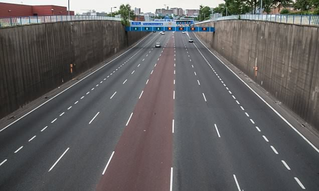 England empties: roads deserted during Three Lions' match with Croatia
