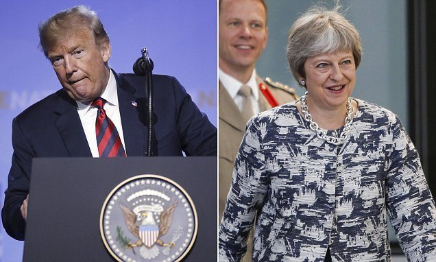 Trump sparks Brexit storm hours before he flies to UK