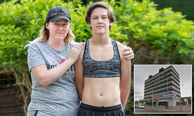 Boy, 15, is sent home from school for wearing a sports bra