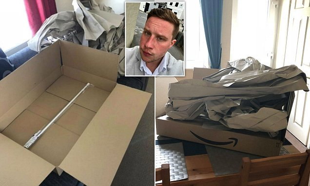 Amazon customer blasts huge box used to package curtain rail