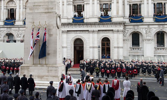 Britons to make up the 100,000 public members to march at Cenotaph