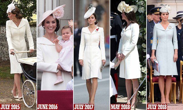 Kate owns her favourite Alexander McQueen coat in THREE shades