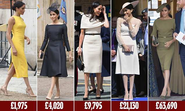 Meghan spends huge £155,000 on 15new outfits since the Royal Wedding