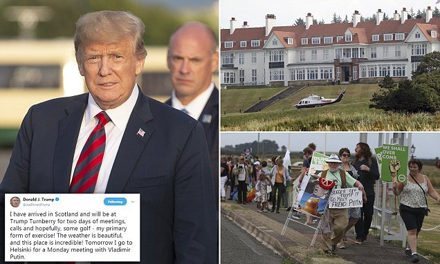 Trump indulges in his 'primary form of exercise' at Turnberry: golf