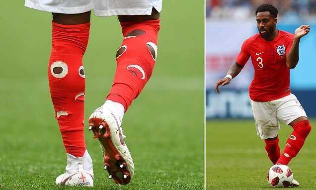 Fans bemused after Danny Rose plays Belgium with holes in socks