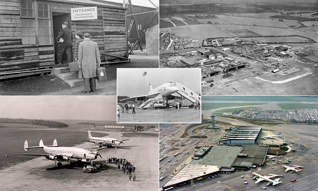 Fascinating photos reveal the stunning transformation of Luton Airport