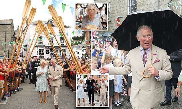 Charles and Camilla kick off their south-west tour in style