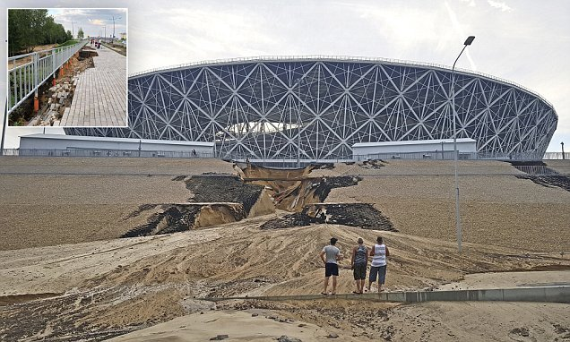 Two Russian World Cup stadiums have already started to COLLAPSE