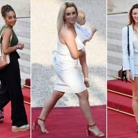 French WAGs join their partners for a World Cup victory party