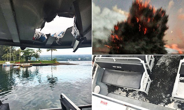 Explosion sends 'lava bombs' flying through Hawaii tour boat