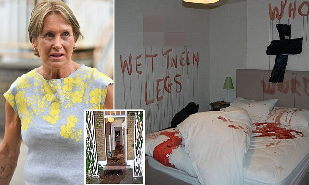 Woman who daubed pig's blood over Tory Lord lover's flat is homeless