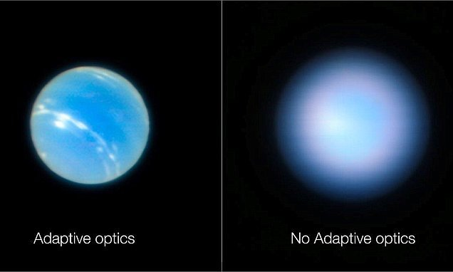 The sharpest images ever of Neptune have been beamed back to Earth