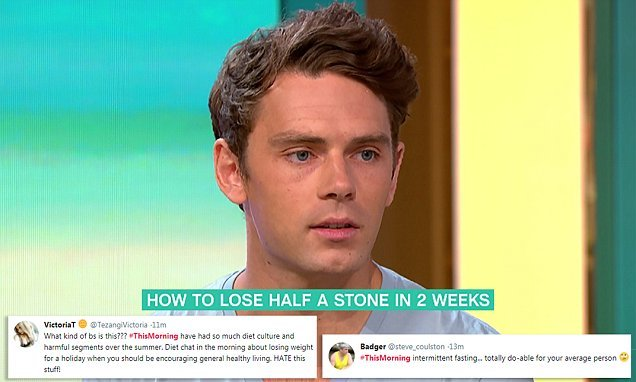 This Morning segment is slammed for encouraging fasting to lose weight