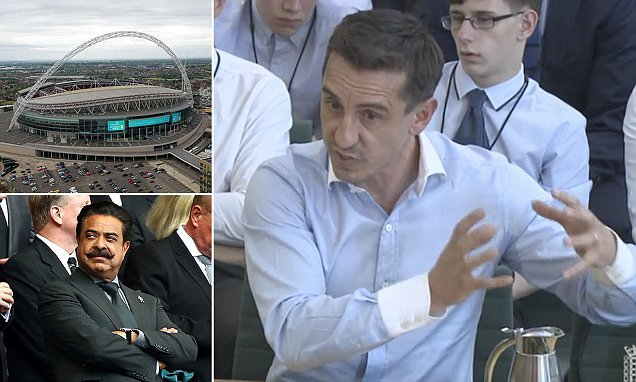 Gary Neville says FA's' plan to sell Wembley Stadium is 'ridiculous'