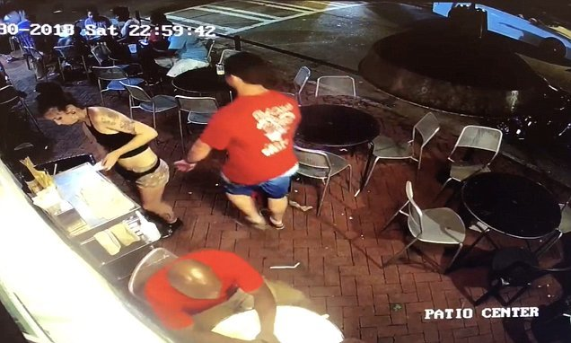 Customer grabs waitress's backside – so she throws him to the ground