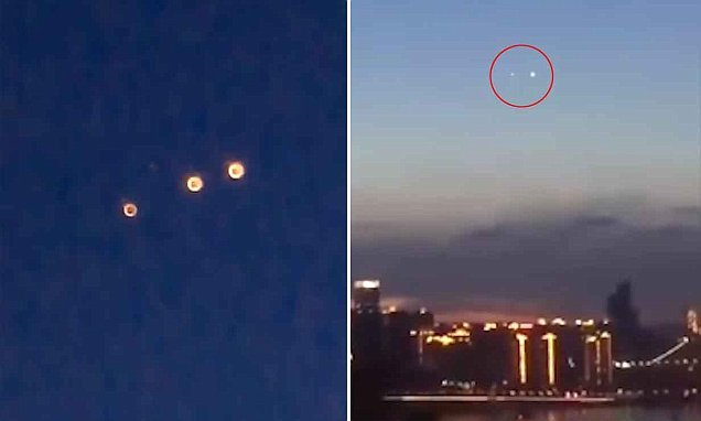 Videos show mysterious moving lights over a Chinese city spark rumours