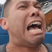 Man screams and PASSES OUT in fear while riding rollercoaster