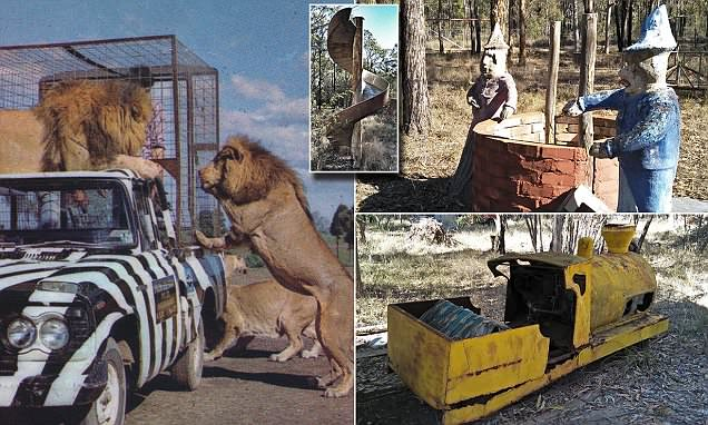 Inside the abandoned theme park built next to Australia's lion safari