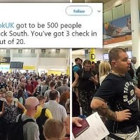 Chaos at Gatwick as Thomas Cook customers suffer huge check-in queues